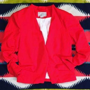 Red fashion forward blazer